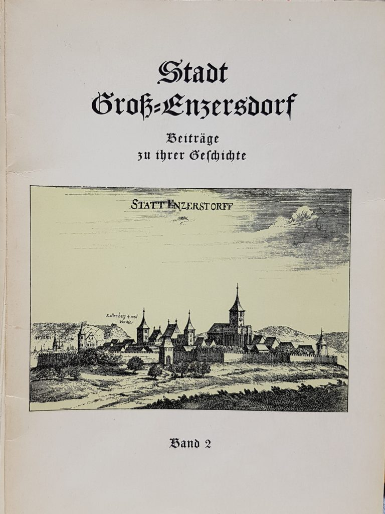 """1960 """"Stadt Groß-Enzersdorf Beiträge zu ihrer Geschichte"""" (Band 2)"""
